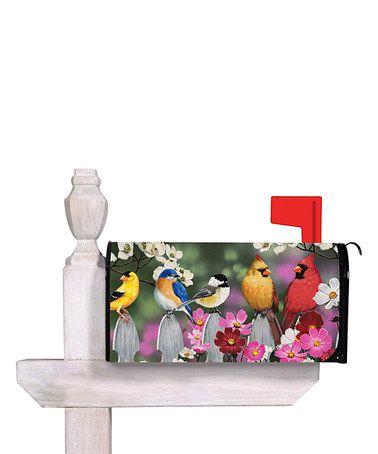 Flowers Birds Choose Design Studio M E8 Mailbox Cover MailWrap