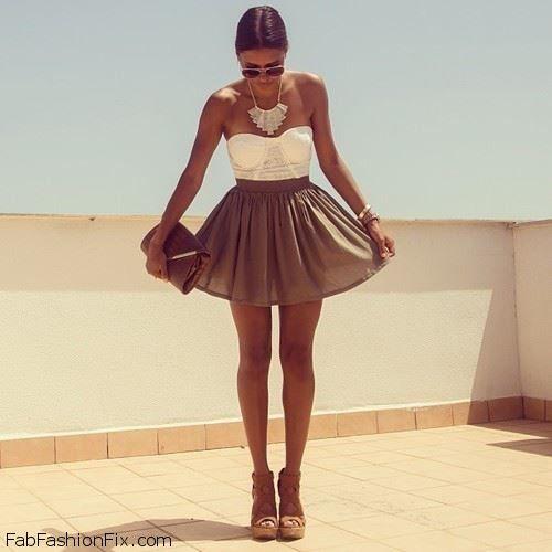 Bustier top + summer skirt