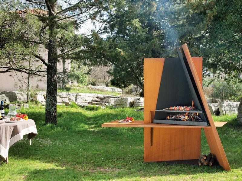 Chemin e ext rieur barbecue design mikadofocus barbecue brasero four pizzas et tartes - Jardin champetre rustique lyon ...
