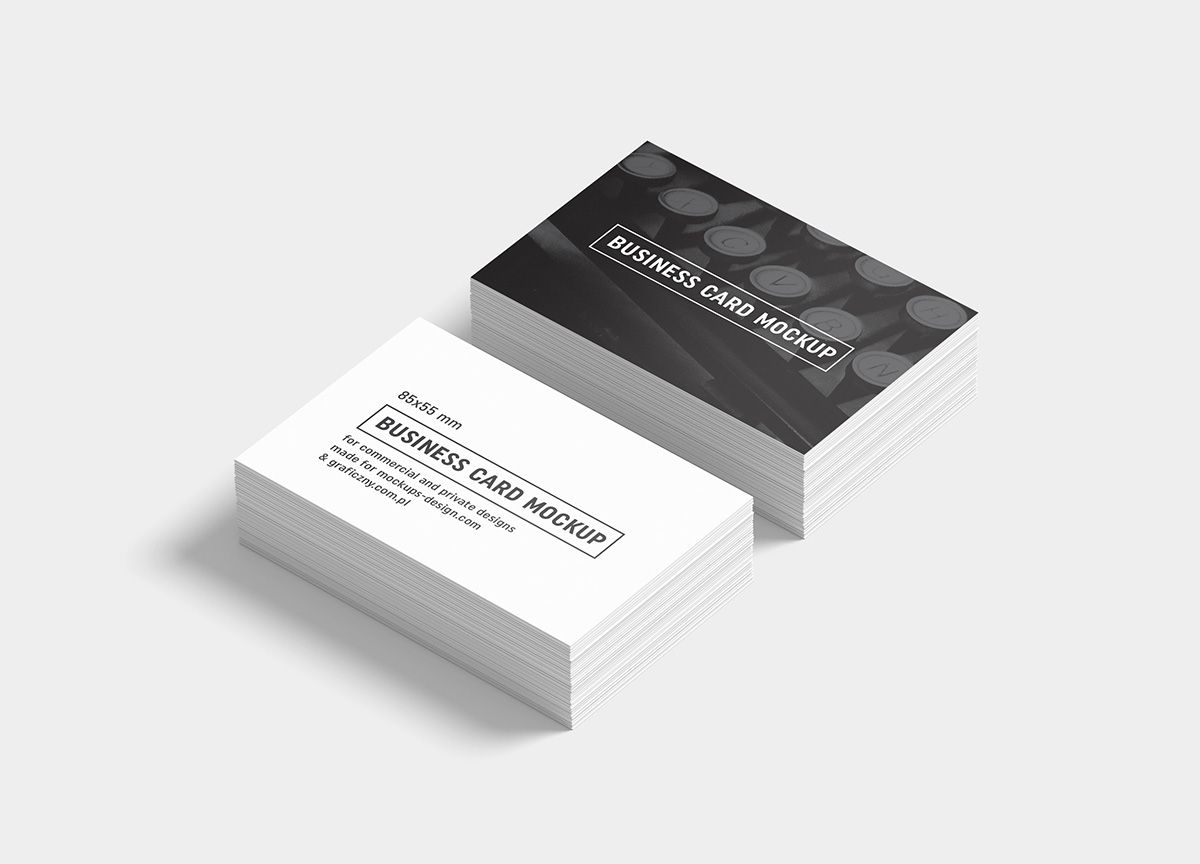 Business cards mockup / 85x55 mm | Mockup, Business cards and Business
