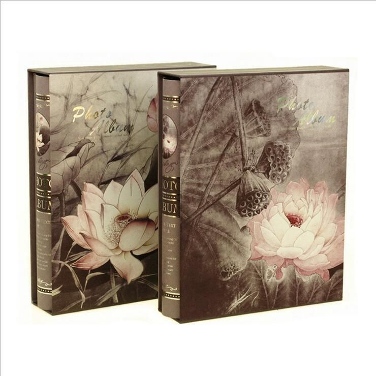 Lotus flower 1pc slip in photo album beautiful picture album hold flower mightylinksfo