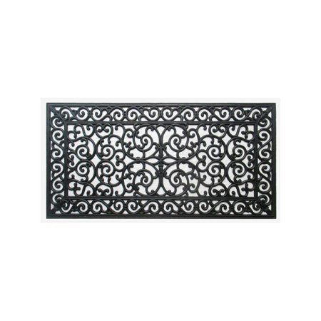 A1 Home Collections A1HOME200093 Rubber Grill Elegant Double Doormat 17.7 L x 47 W Copper Finish