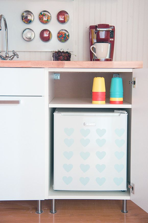 Mini Kitchen Dorm Room Decor, Small Refrigerator Cabinet Ikea