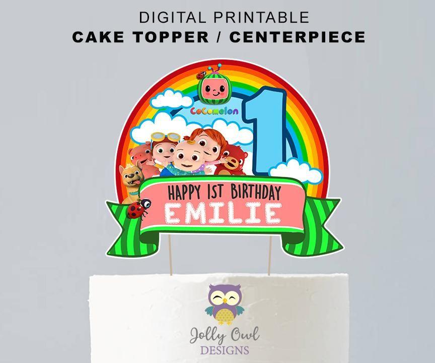 cocomelon cake topper printable