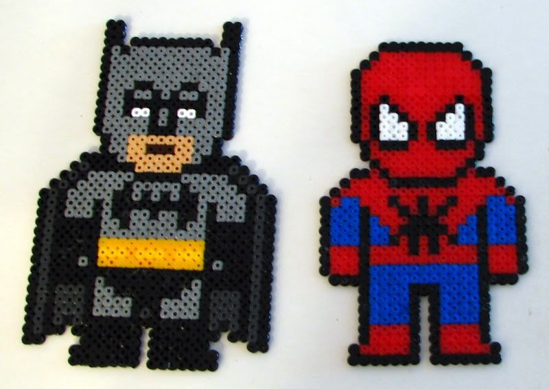 Hama Beads Spiderman: Hama Batman Spiderman