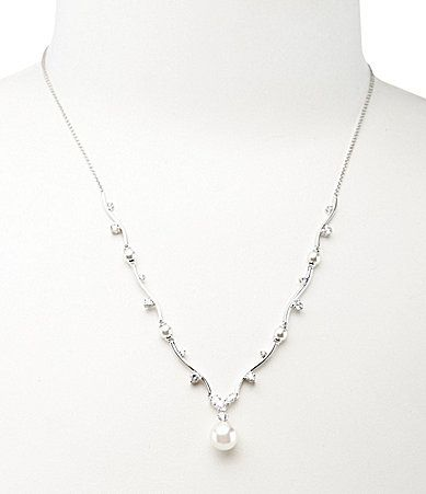 Nadri Pearl Y Drop Necklace Dillards Wedding Jewelry Pinterest