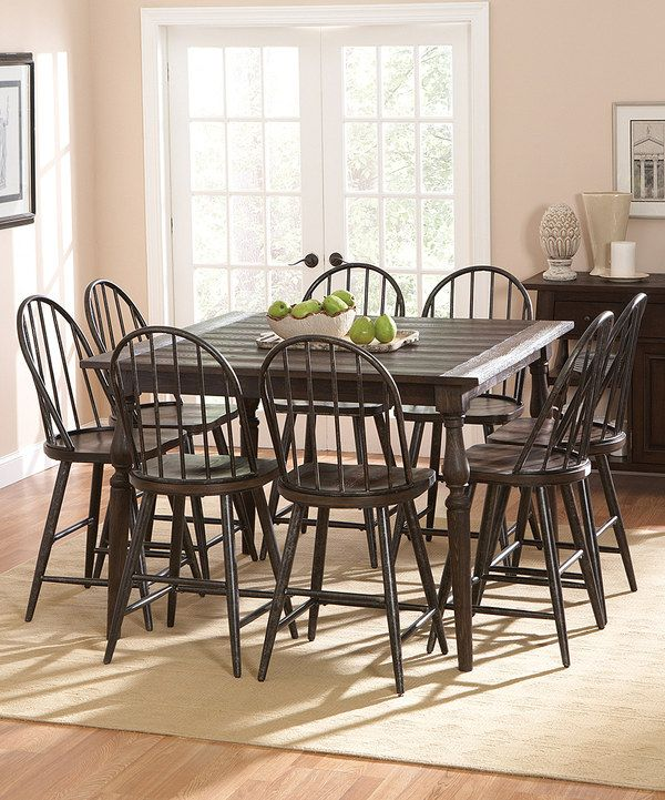 Look At This Heritage Windsor Nine Piece Counter Height Dining Set On  #zulily Today