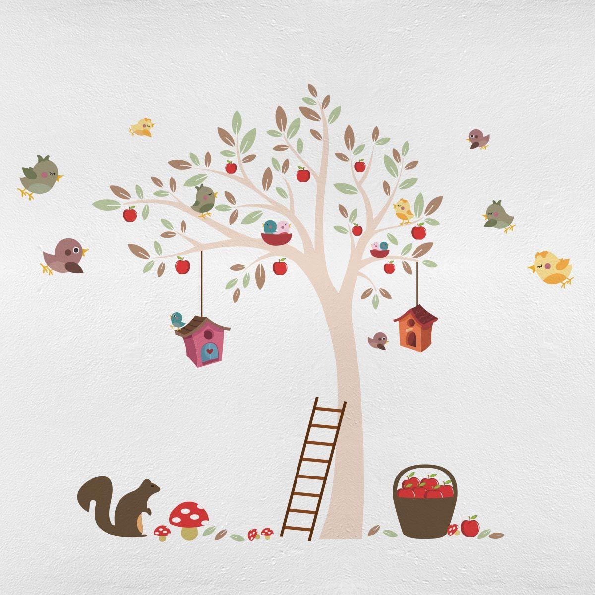 Bel Ssimo Adesivo De Parede Para Quarto Do Beb Jardim Encantado  ~ Desenhos Para Fazer Na Parede Do Quarto Feminino