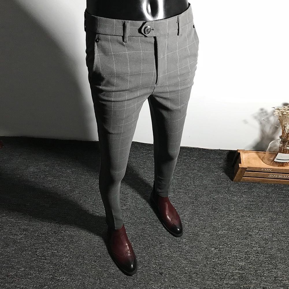 Men S Plaid Pants Slim Pencil Pants Mens Plaid Pants Mens Trousers Casual Mens Pants Casual [ 1000 x 1000 Pixel ]
