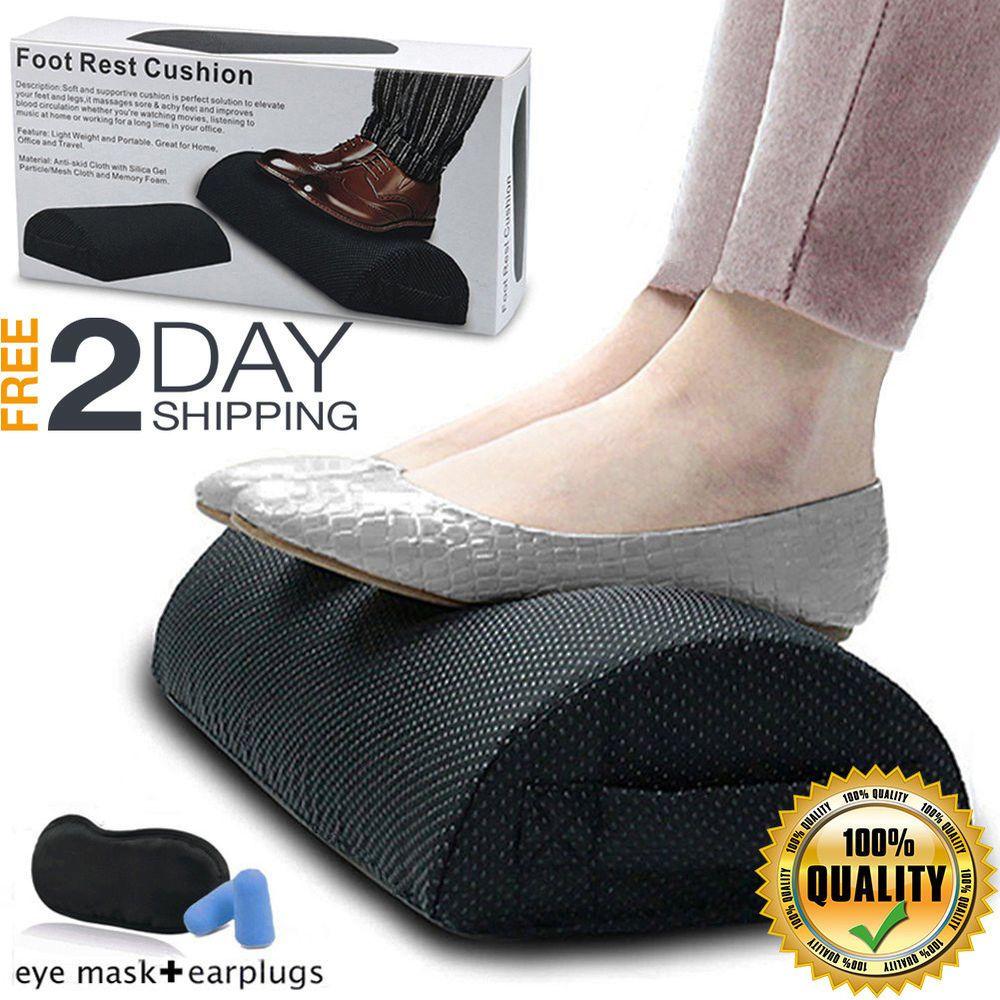 Best Under Desk Foot Rest Ergonomic Adjustable Comfort Portable Height Cushion Smelov Feet Pillow Feet Foot Rest