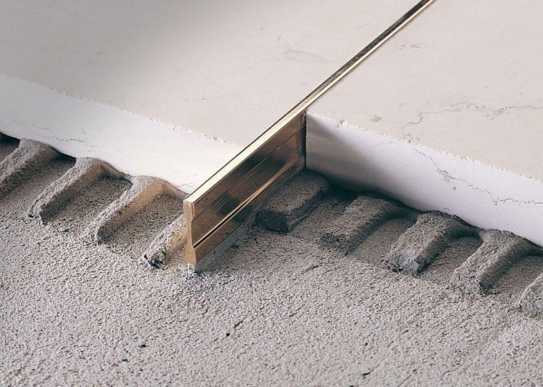 Brass Edge Trim Tile Linetec Pt Profilitec Floor Design Flooring Interior