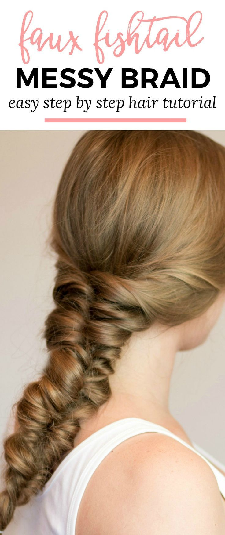 Easy heatless hairstyles for long hair pinterest faux braids
