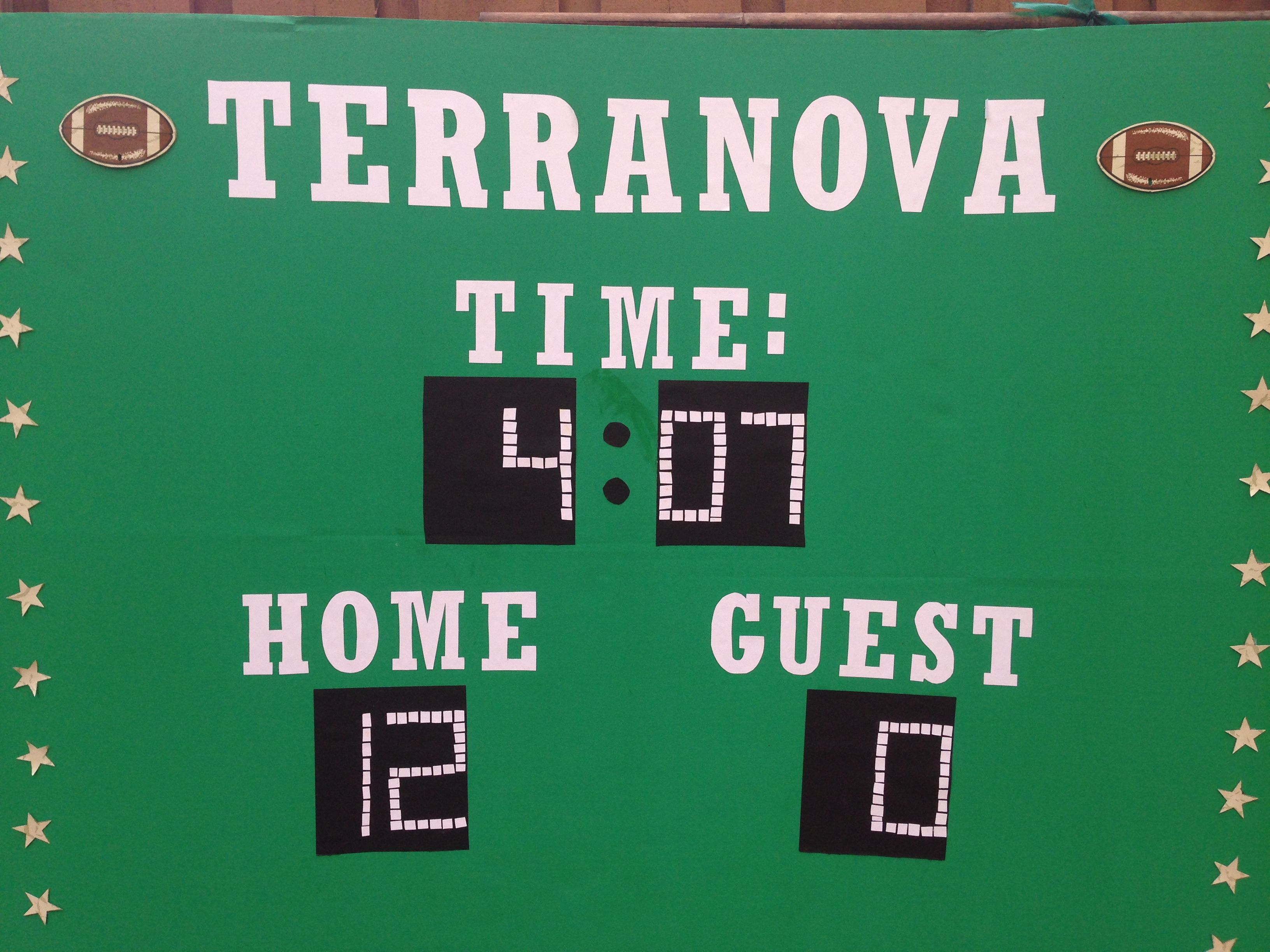 Score Board As A Background For A Sports Theme Party