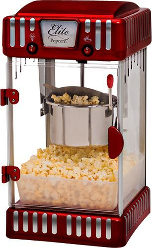 Elite 16 Cup Tabletop Popcorn Popper Red