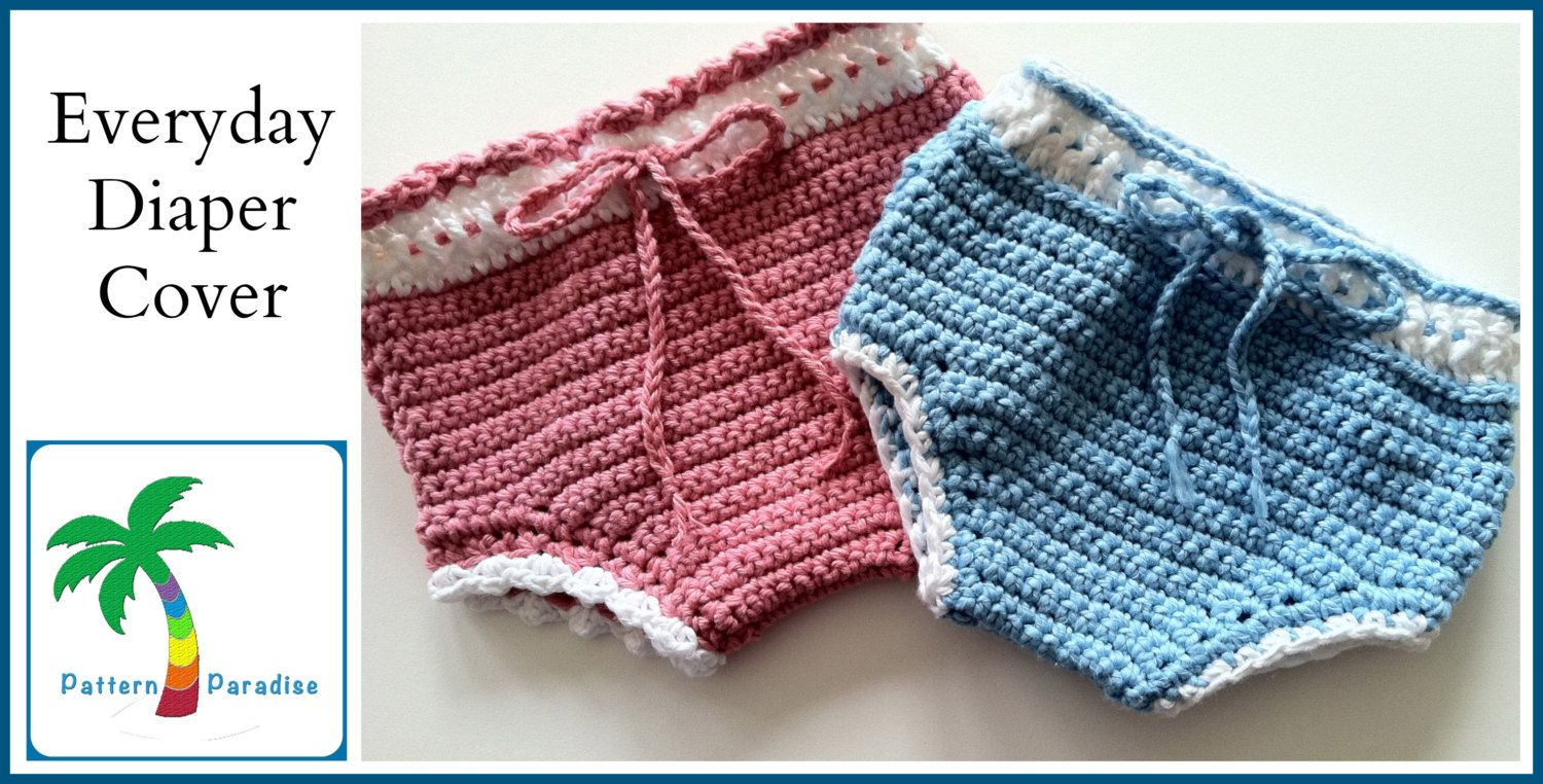 Crochet Pattern for Everyday Diaper Cover Soaker, PDF 12-044 INSTANT ...