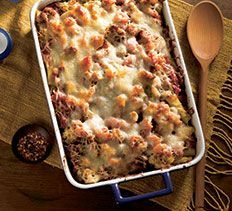 Baked Rigatoni with Roasted Cauliflower and Italian Sausage from Cooking Club.