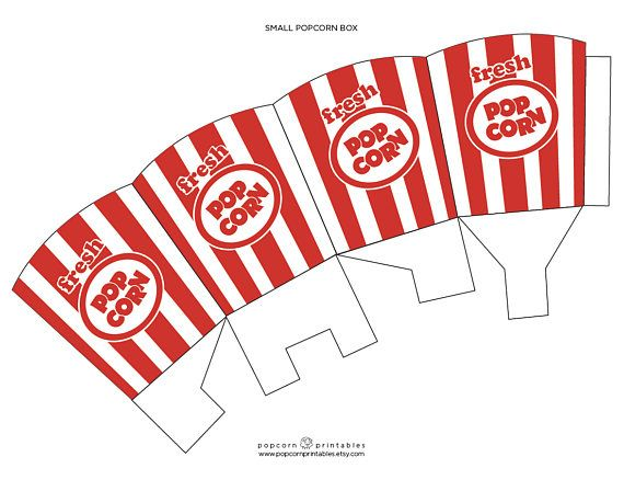 graphic about Popcorn Box Printable named Pin upon Goods