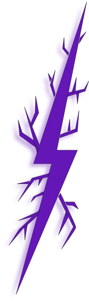 purple bolt | Deep Purple Lightning Bolt clip art - vector clip art online, royalty ...