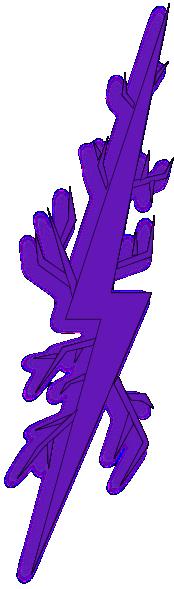 purple bolt | Deep Purple Lightning Bolt clip art - vector clip art online, royalty ...