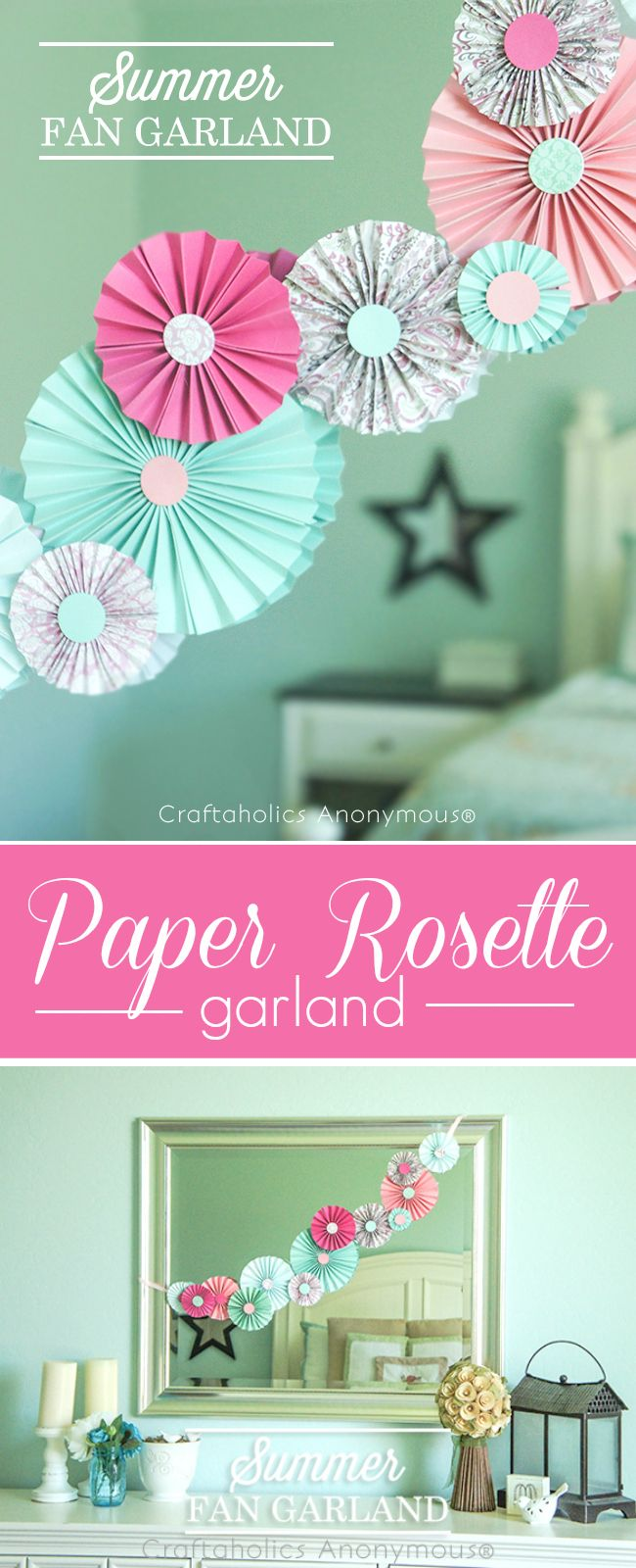 How to make rosettes out of paper - Diy Paper Rosettes Or Fans Tutorial Pretty Colors These Are Great For Parties