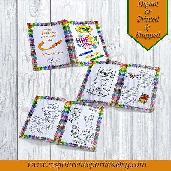 crayola crayon custom coloring books crayola crayon party