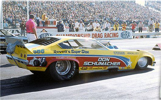 Schumacher Yellow Vega 1974 | Drag racing cars, Car humor, Funny ...