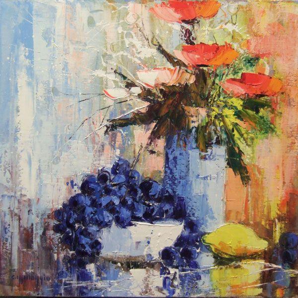 Peinture celestin messaggio bouquet avec citron dessin art pinterest bouquet citron - Tuto peinture abstraite contemporaine ...
