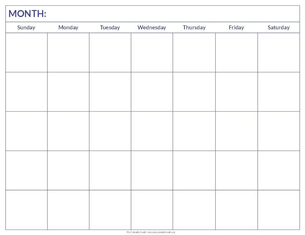 Monthly Calendar For Printing Blank Calendar Pages Printable Blank Calendar Blank Calendar Template Printable blank monthly calendar template