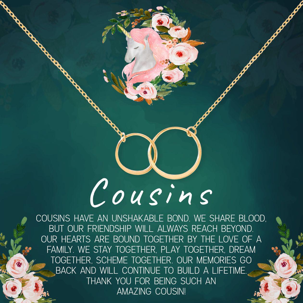 Cousins Double Circles Necklace In 2021 Heartfelt Gifts Double Circle Necklace Best Friend Necklaces