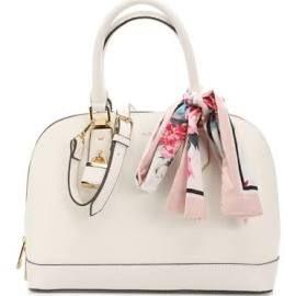 4f09c307043 Women s Yilari Satchel -White Embossed Faux Leather