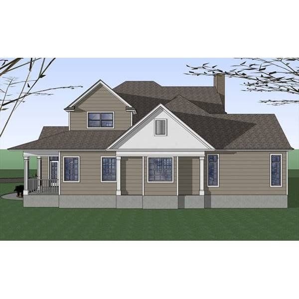 The House Designers THD 7401 Builder Ready Blueprints to Build a Country House Plan with Slab Foundation 5 Printed Sets