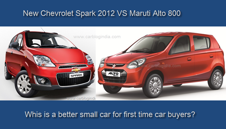 Chevrolet Spark Vs Maruti Alto 800 Detailed Comparison
