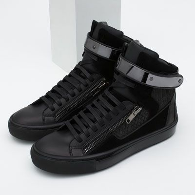 Image 5 of HIGH-TOP SNEAKERS WITH METALLIC CLOSURE from Zara