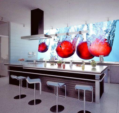 Fotomural 507 480 fotomurales de cocina pinterest kitchens kitchen backsplash - Fotomurales cocina ...