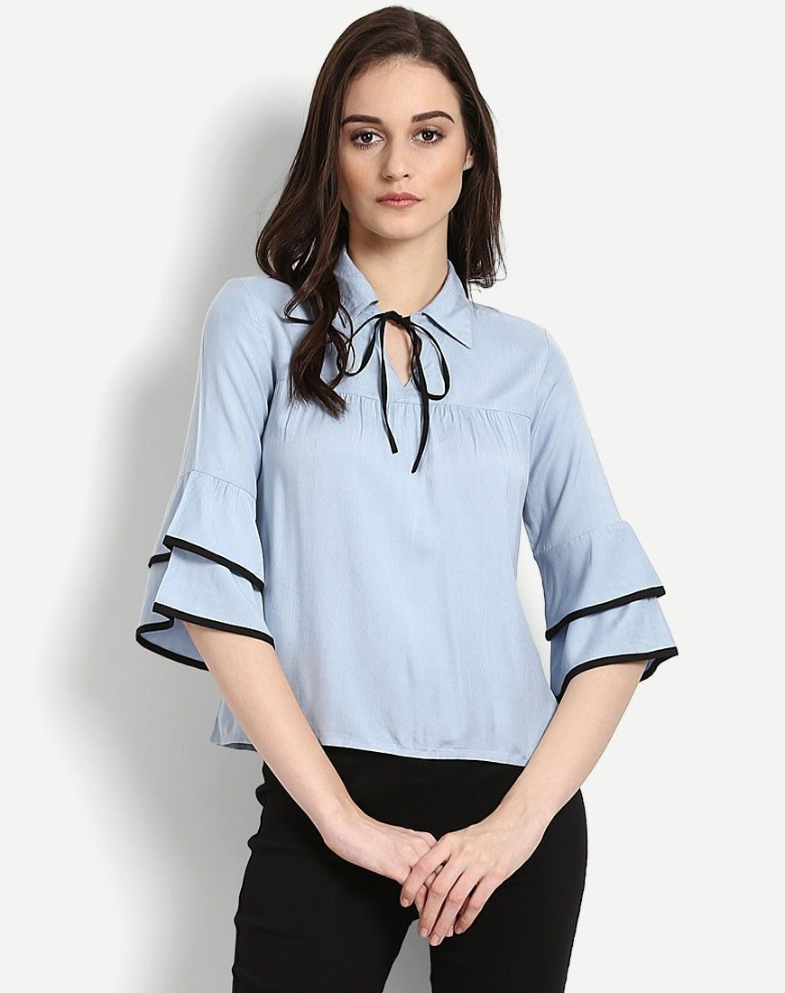 2cd950b931f167 Blue Dagny Ruffles Blouse | cute outfits | Pinterest | Ruffle shirt ...