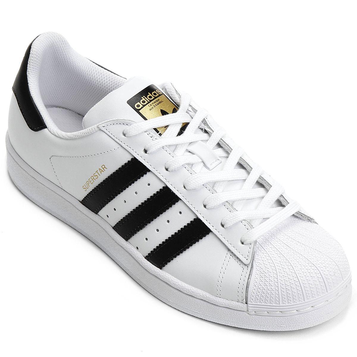 Netshoes E Branco Foundation Tênis Superstar Preto Adidas YUgqY1nF