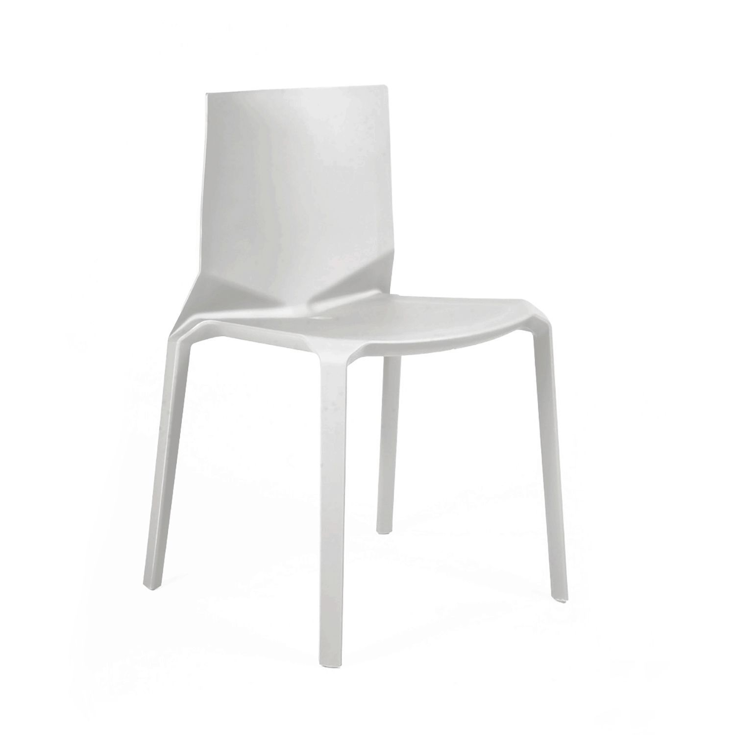 Design Lab Mn Vector Platinum Grey Modern Stackable Dining Chair