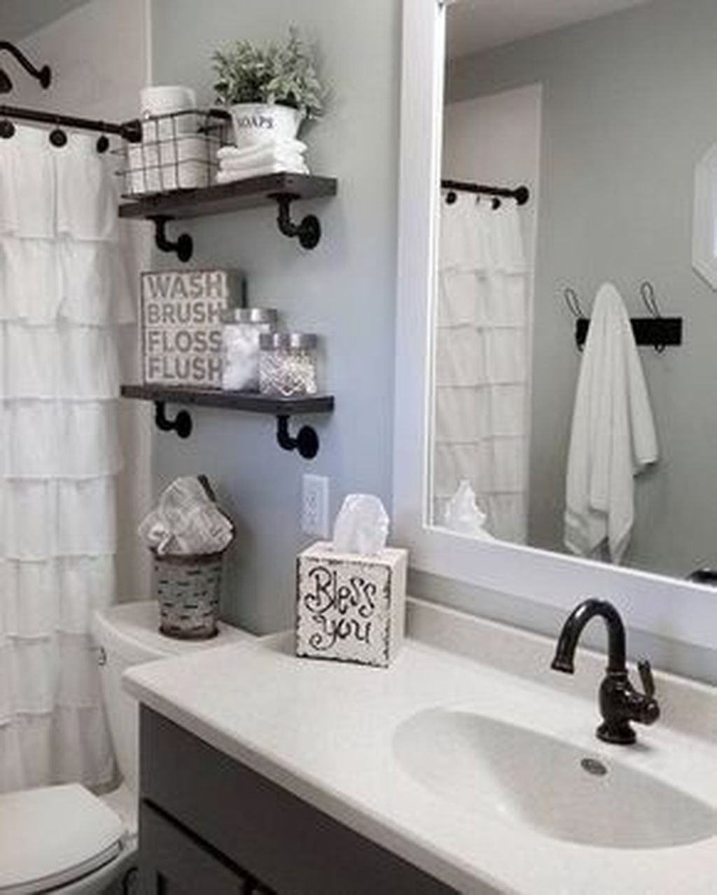 48 Totally Adorable Small Bathroom Decor Ideas Small Bathroom