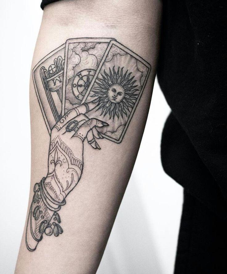 Schwarz, #Stricharbeit #Tarot #Tattoo #Ich #liebe #das #Henna #Design #auf #dem #Tattoo #der ...