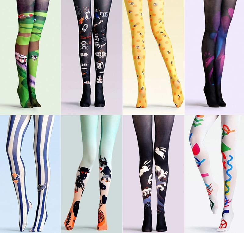 sports shoes well known pretty nice Funky Tights and Legwear for the Summer | Funky tights, Tights ...