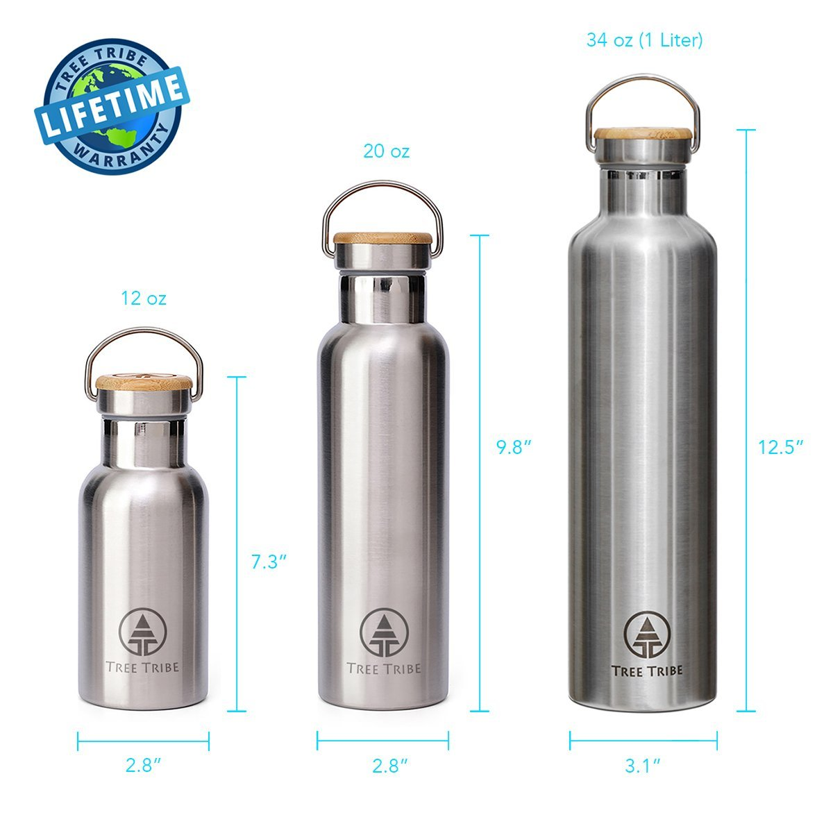 Stainless Steel 1 Liter Water Bottle 34 Oz Water Bottle Bottle Vacuum Insulated Water Bottle