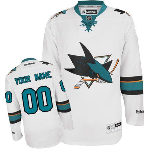 e659748da -Buy 100% official Reebok Women s Authentic White Jersey Customized NHL San  Jose Sharks Away Free Shipping.