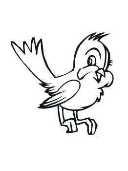 Coloring Page Of Bluebirds Cute Cartoon Bluebird Coloring Page
