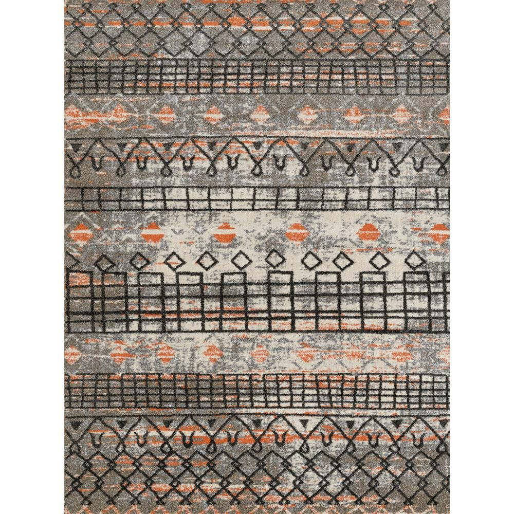 Amer Rugs Carlin Orange Geometric 2 Ft 1 In X 6 Ft 4 In Runner Rug Car18 2164ar Area Rugs Rugs Rug Runner