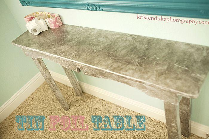 DIY Tin Foil Table