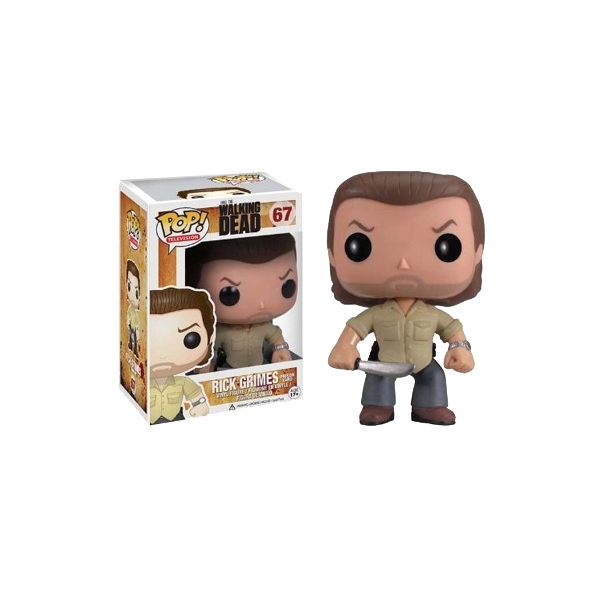 Figura Pop! Televisión - The Walking Dead: Rick con Barba  The Walking Dead  dispone de su propia gama de simpáticos muñecos gracias a la marca Funko.  Aquí tenemos a Rick... el Sheriff mata zombies más famoso de la TV y los Cómics. Un poco dejado...