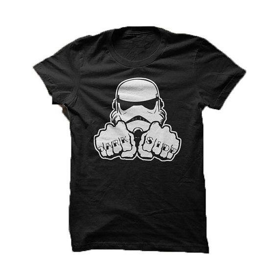 Dark Knuckles / Dark Side tattoo  Star Wars by GramsTelegrams #shirt  #parody  #mashup  #starwars  #darkside #tattoo  #knuckles  #stormtrooper  #trooper