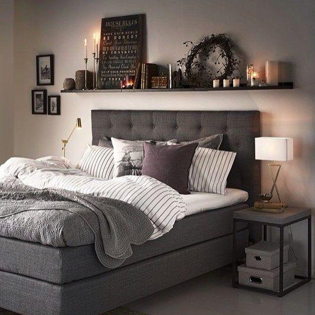 inredning sovrum grått