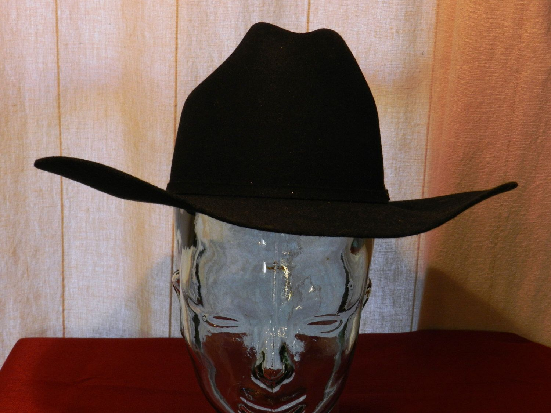 Vintage Bailey Pro 5 X Beaver Black Cowboy Hat With Silver Etsy Black Cowboy Hat Cowboy Hats Mens Hats Vintage