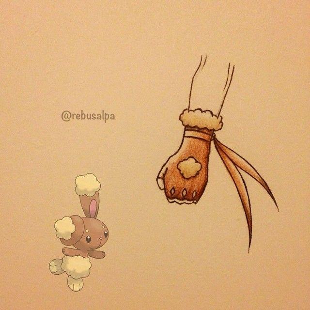 Instagram Media By Rebusalpa Pokeapon No 427 Buneary Pokemon